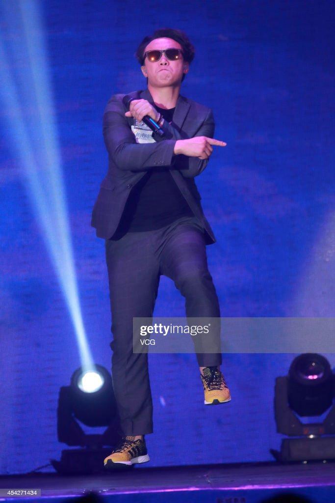 Eason Chan Performs At Concert In Hong Kong