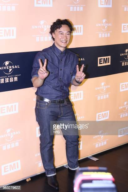 Eason Chan third time won the best male singer at the 29th golden melody awards on 23th June 2018 in Taipei Taiwan China