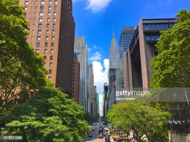 East 42nd Street and its landmark buildings, NYC