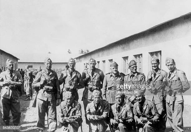 2WW East Africa Theatre of war Abyssinia Somaliland Germans living in Abyssinia enlist voluntarily to the italian army German volunteers in italian...