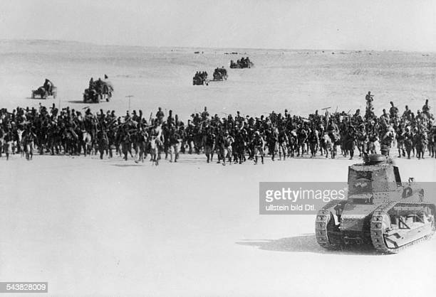 2WW East Africa Theatre of war Abyssinia Somaliland Italian occupation of britishsomaliland Advance to Berberaabout 15August 1940 foreground tank...
