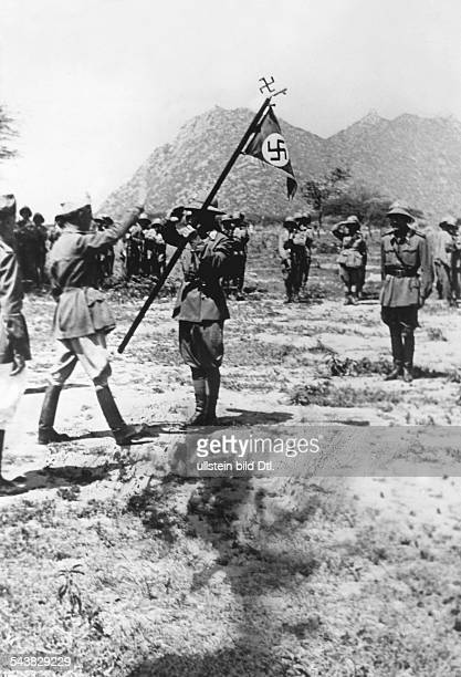 2WW East Africa Theatre of war AbyssiniaEritrea Somaliland Germans living in Abyssinia/Eritrea enlist voluntarily to the italian army handing over of...