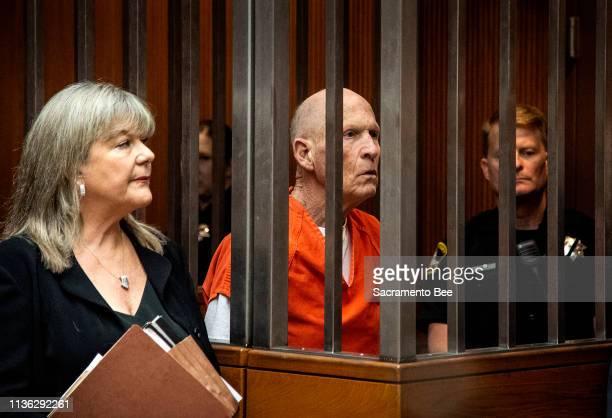 East Area Rapist suspect Joseph DeAngelo returns to Sacramento Superior Court in Sacramento on Wednesday April 10 2019 District Attorneys from four...