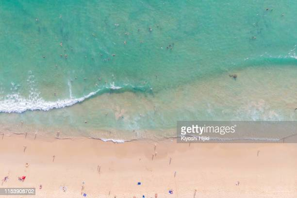 east asia beach view by drone - corse photos et images de collection