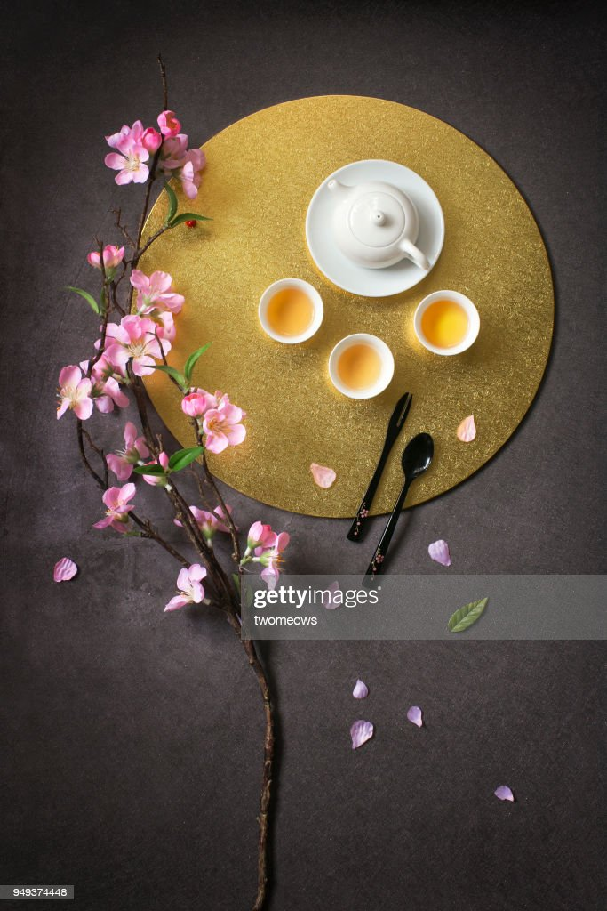 East Asian Style Gl Tea Cups And