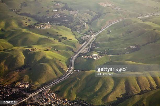 east bay from sky - fremont california stock pictures, royalty-free photos & images