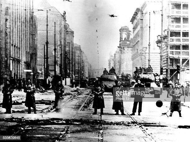 Soviet police and tanks June 17 The German Democratic Republic Washington National archives