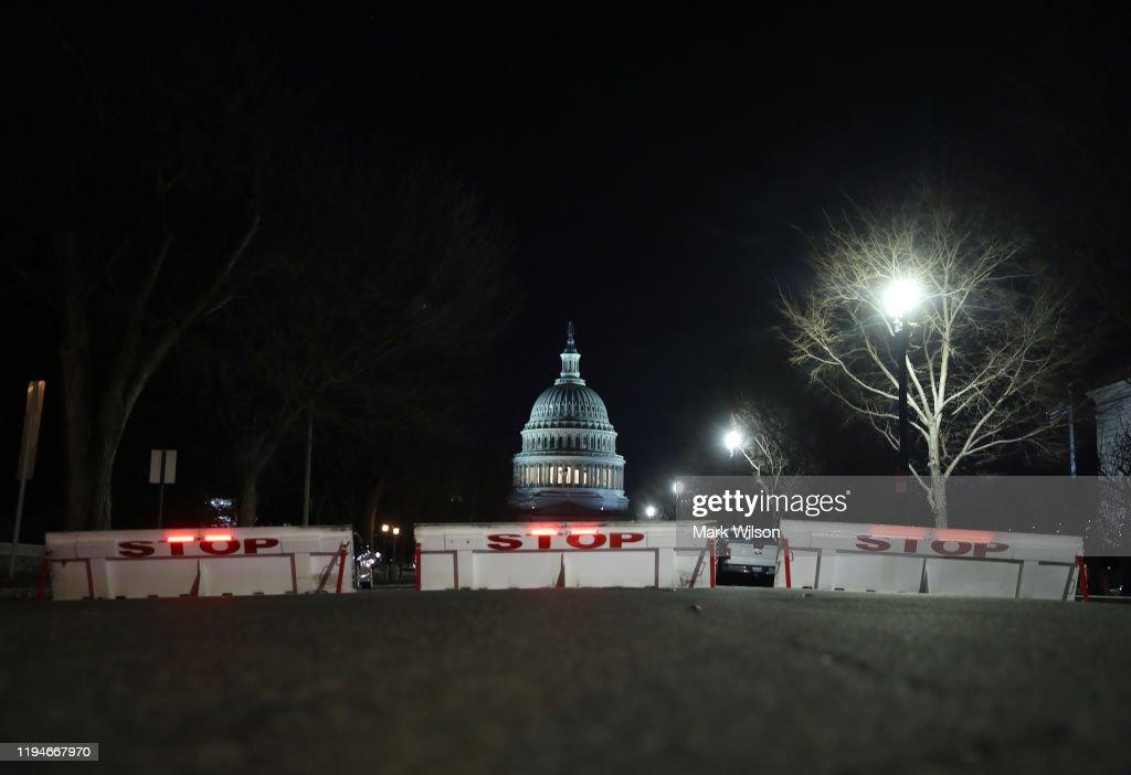 U.S. House Of Representatives Votes On Impeachment Of President Donald Trump : News Photo