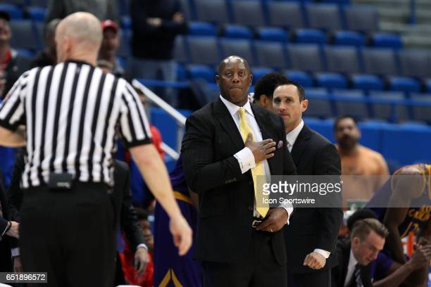 East Carolina Pirates head coach Jeff Lebo during the first half of the American Athletic Conference quarterfinal game between East Carolina Pirates...