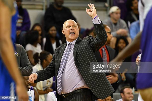 East Carolina Pirates head coach Jeff Lebo roams the sidelines in the second half of an NCAA basketball game between the East Carolina Pirates and...