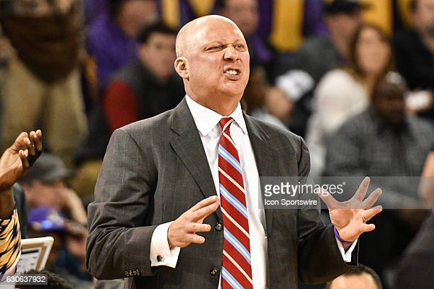 East Carolina Pirates head coach Jeff Lebo talks to the referees in an American Conference regular season game between the South Florida Bulls and...