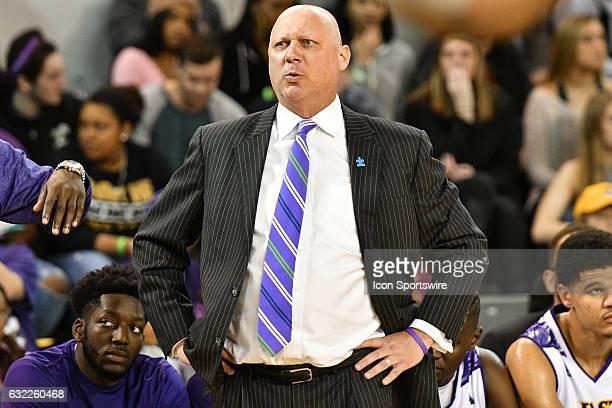 East Carolina Pirates head coach Jeff Lebo watches the play in an American Athletic Conference game between the Cincinnati Bearcats and the East...