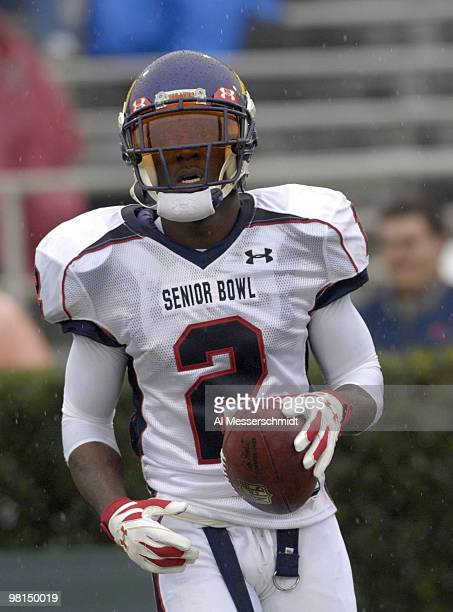 East Carolina wide receiver Aundrae Alison during the 2007 Under Armour Senior Bowl game at LaddPeebles Stadium Mobile Alabama January 27 2007