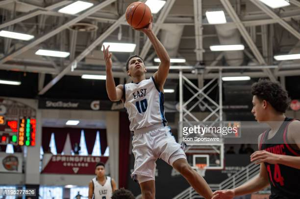 East Catholic Eagles guard Matt Knowling shoots the ball during the Spalding Hoophall Classic high school basketball game between the East Catholic...