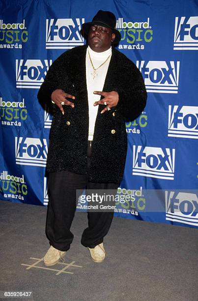 East Coast gangsta rapper Chris Wallace known as The Notorious BIG attends the Billboard Music Awards hosted by Fox Television