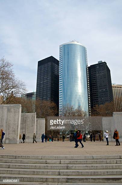 east coast memorial visitors, manhattan cityscape, battery park, nyc - public domain stock pictures, royalty-free photos & images