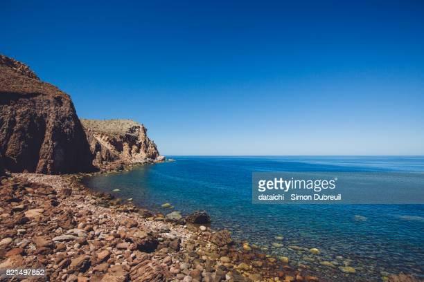 east coast of espiritu santo islands - baja east stock pictures, royalty-free photos & images