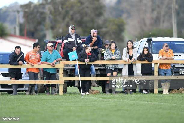 East Coast supporters during the round one Heartland Championship match between East Coast and Thames Valley on August 26 2017 in Ruatoria New Zealand