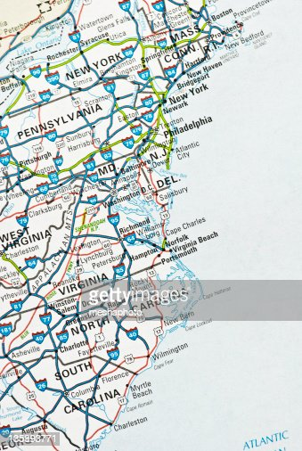 East Coast Usa Stock Photo Getty Images - Map of eastern us beaches