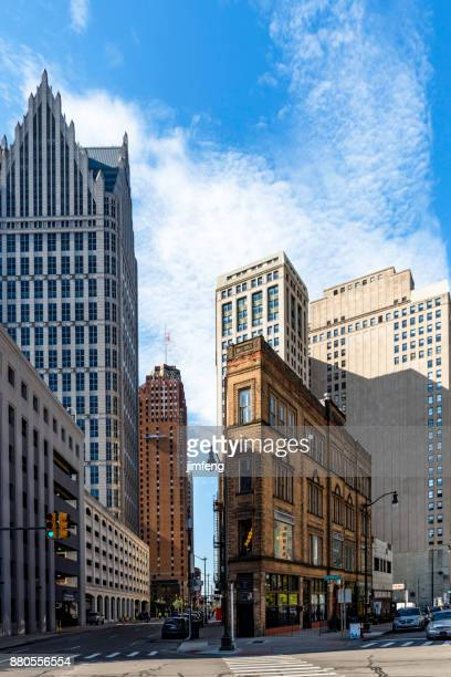 east congress street - detroit michigan stock pictures, royalty-free photos & images