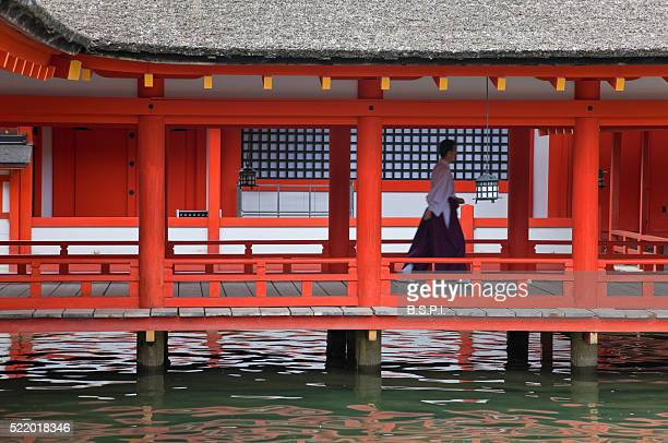 East Corridor at Itsukushima Shrine on Japan's Sacred Miyajima Island