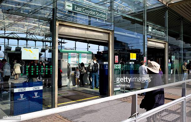 east croydon station - east stock photos and pictures