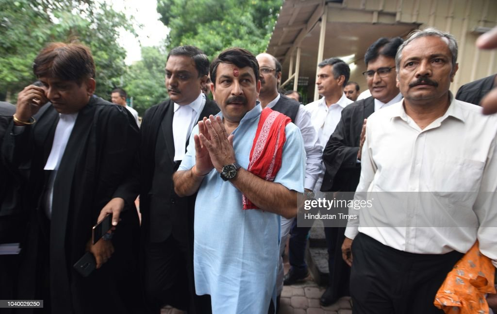 Delhi BJP Chief Manoj Tiwari Appears At Supreme Court In A Case Of Breaking Locks Of A Sealed House