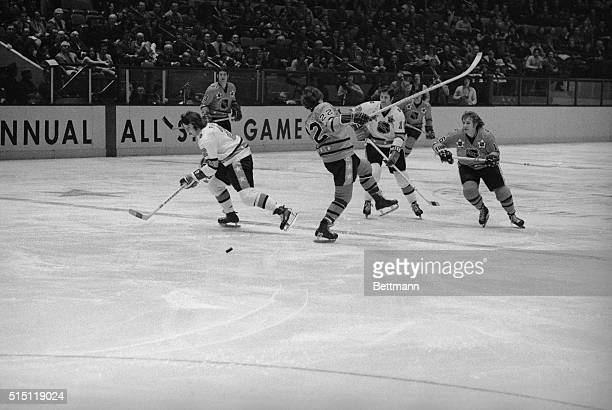 East Division's Bobby Orr is shown losing his balance during the NHL AllStar game