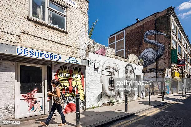East End, Brick Lane, Hanbury Street, mural
