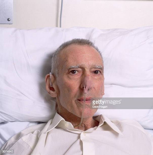 East End gangster Reggie Kray in hospital circa 2000