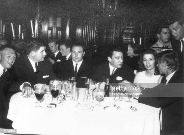 East End gangster Ronnie Kray at a nightclub with society girl Christine Keeler who gained notoriety for her involvement with war minister John...