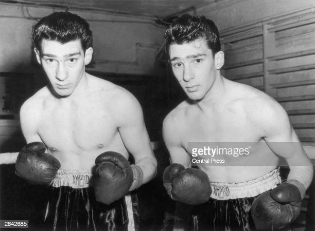 East End gangsters the Kray twins Ronnie and Reggie who began their careers in the boxing ring training at Klein's Gym London