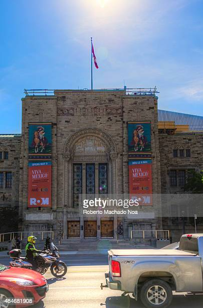 MUSEUM TORONTO ONTARIO CANADA East facade in the old building comprising the Royal Ontario Museum The Royal Ontario Museum is among the worlds...