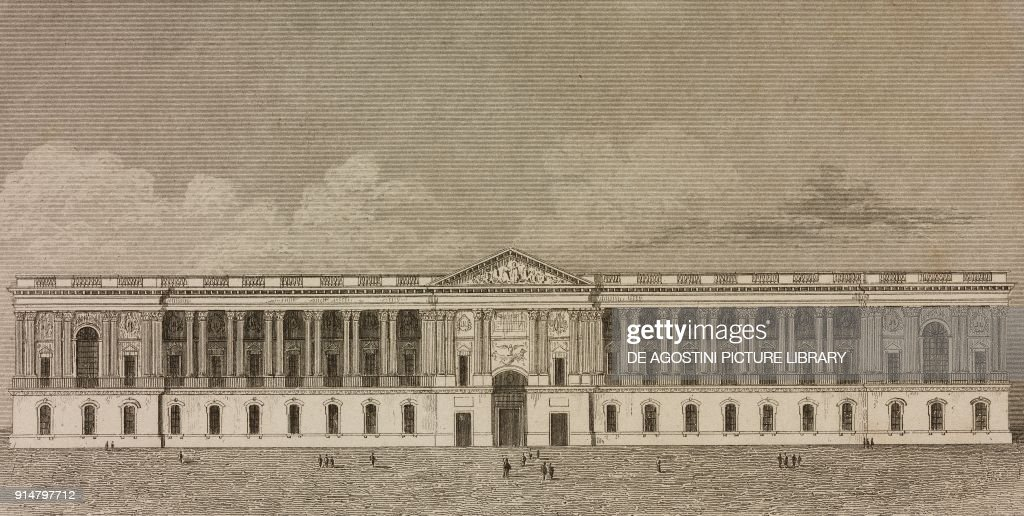 East Facade Of The Louvre Palace Paris France Engraving By News Photo Getty Images