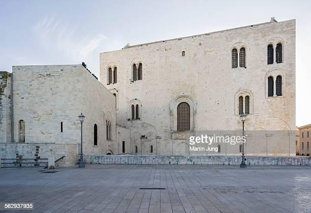 East facade of the Romanesque Cathedral Basilica San Nicola,1087, Bari, Apulia, Italy