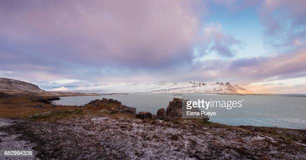 East fiords and landscape on Iceland