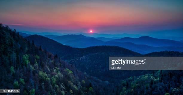 East Fork Overlook Panorama — Blue Ridge Parkway, NC