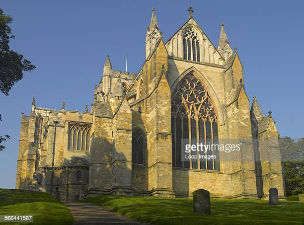 East Front facade of Ripon Cathedral one of the oldest sites of continuous Christian worship in Great Britain