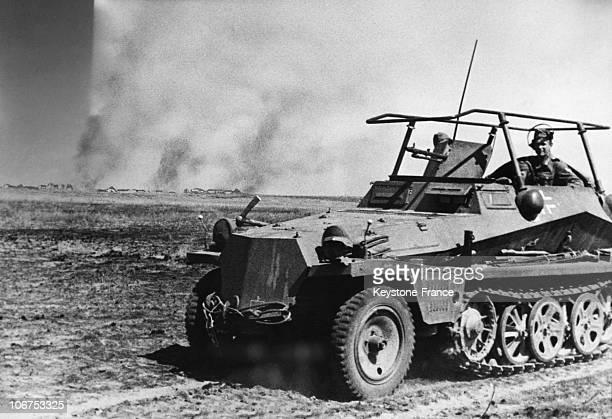 East Front Russia Stalingrad Battle German Tank In The Battle Field On 1942 September 8Th
