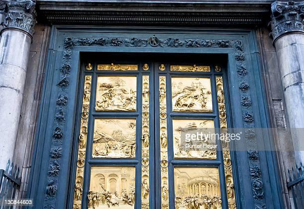East gate baptistry San Giovanni Paradiestuer Florence Toskana Italien