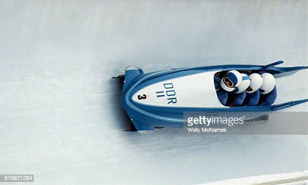 East German Bobsled Team at the 1984 Olympics