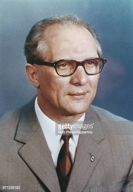 East German Democratic Republic politician and new General Secretary of the Socialist Unity Party of Germany Erich Honecker pictured in May 1971