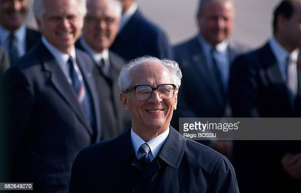 East German President Erich Honecker during the 40th anniversary of the German Democratic Republic
