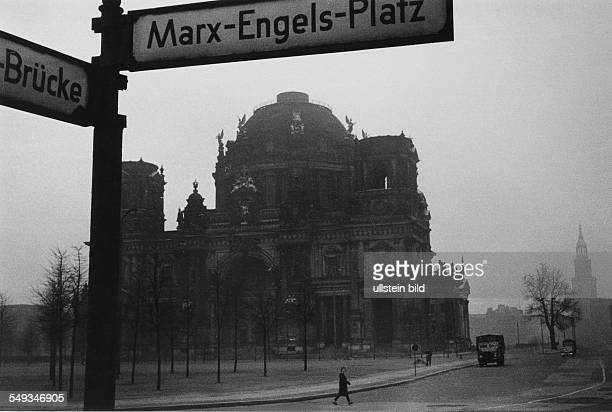 DDR East Germany East Berlin ruin of church Berlin Dom