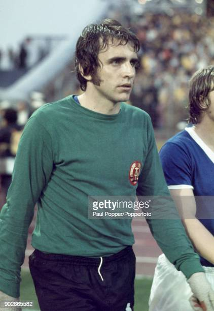 East Germany goalkeeper Jurgen Croy during the FIFA World Cup match between Brazil and East Germany at the Niedersachsenstadion, Hannover, 26th June...