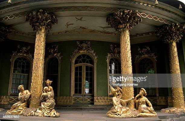 East Germany Near Berlin Potsdam Sanssouci Rococo Teahouse Detail