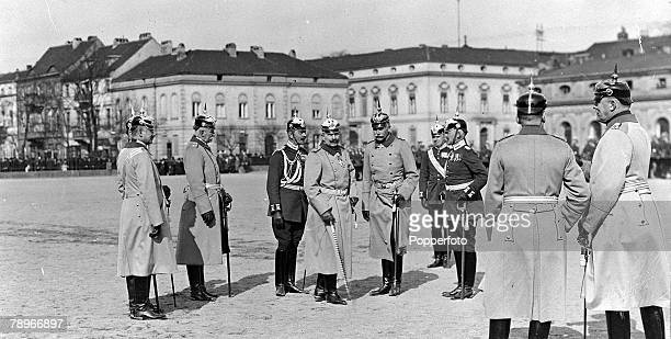 East Germany Potsdam A picture of Kaiser Wilhelm II the German Emperor and King of Prussia