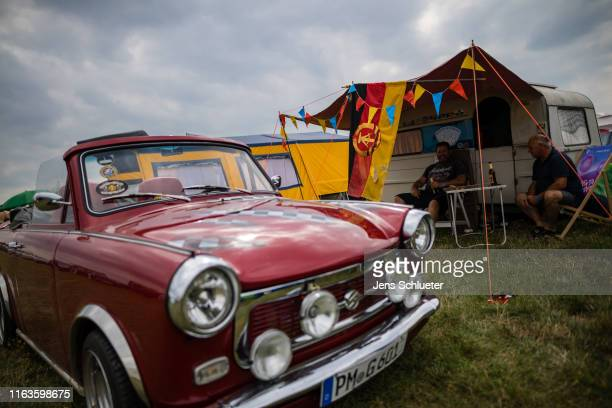 East Germanyera Trabant car sits at the annual gathering of Trabant enthusiasts on August 24 2019 in Zwickau Germany The humble Trabant or Trabi as...