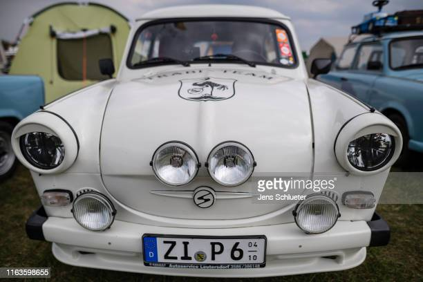 East Germanyera Trabant car stands at the annual gathering of Trabant enthusiasts on August 24 2019 in Zwickau Germany The humble Trabant or Trabi as...