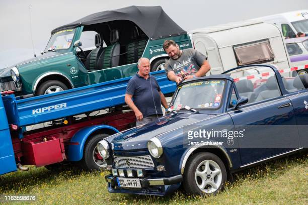 East Germanyera Trabant cars stand at the annual gathering of Trabant enthusiasts on August 24 2019 in Zwickau Germany The humble Trabant or Trabi as...